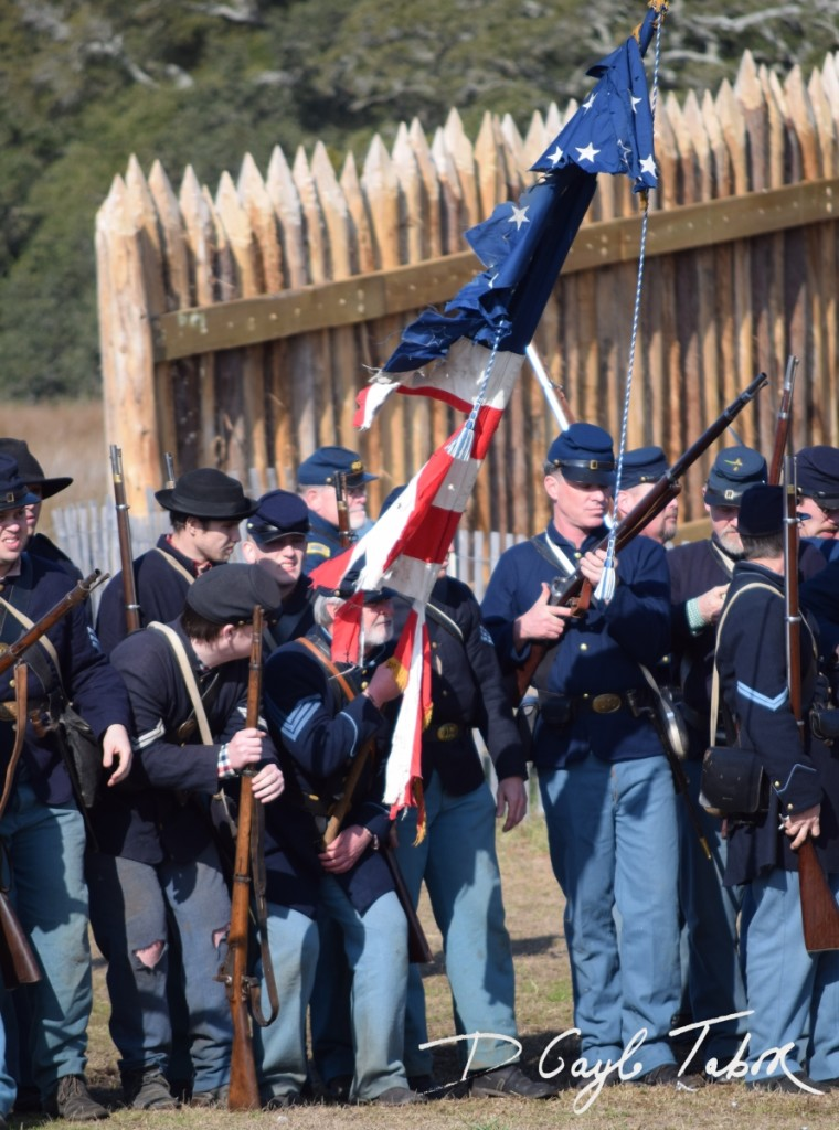 Fort Fisher Reinactment 2015 federal forces 2