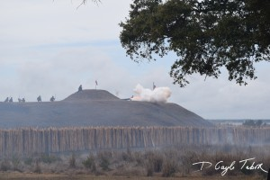 Fort Fisher Reinactment 2015 firing the cannon 1