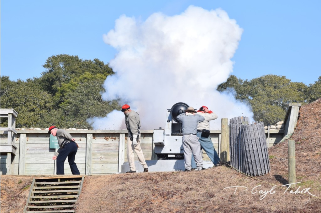 Fort Fisher Reinactment 2015 firing the cannon